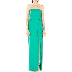BCBG Green Floor Length Gown